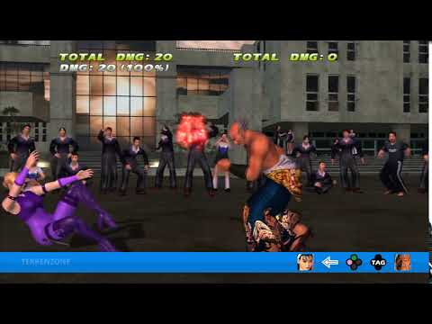 TEKKEN TAG HD - Jun + Heihachi Tag Throw