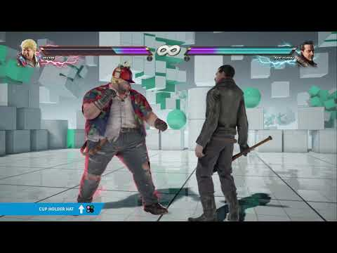 "TEKKEN 7 - Bob's ""Cup Holder Hat"" Item Move"