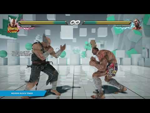 "TEKKEN 7 - ""Wooden Block Tower"" Item Move"