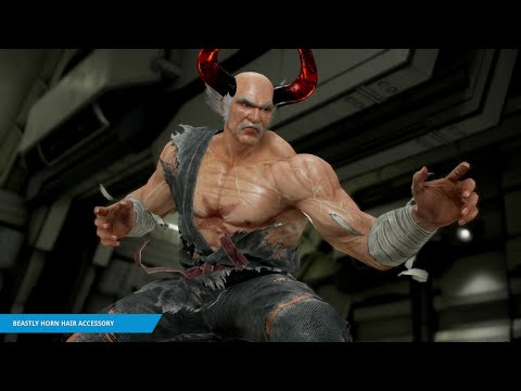 "TEKKEN 7 - ""Beastly Horn Hair Accessory"" Item Move"