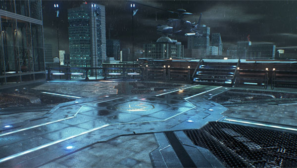 G Corp. Helipad (Night)